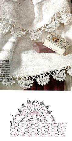 Crocheted motif no. Crochet Flower Squares, Crochet Borders, Crochet Motif, Crochet Designs, Crochet Doilies, Crochet Flowers, Crochet Collar Pattern, Crochet Lace Collar, Crochet Crafts