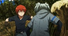 Akabane Karma and Shiota Nagisa - Assassination Classroom Noragami, Me Me Me Anime, Anime Guys, Karma Y Nagisa, 19 Days Manga Español, Fighting Gif, Koro Sensei, Nagisa Shiota, Anime Fight