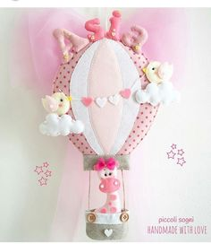 Baby Crafts, Felt Crafts, Diy And Crafts, Baby Deco, Felt Wreath, Baby Mobile, Felt Baby, Felt Decorations, Felting Tutorials