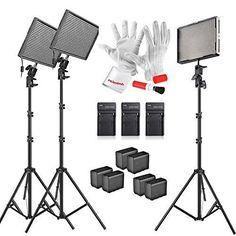 Aputure Amaran AL-528KIT(AL-528S*2 + AL-528W) 528 Led Video Light Panel Studio LED Lighting Kit with Light Stand, Sony NP-F960… #deals
