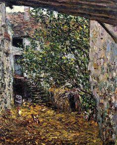 "bofransson:  "" 1878 Claude Monet Farmyard  """