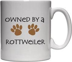 Köpekli - Owned By a Rottweiler - Kendin Tasarla - Beyaz Kupa