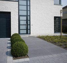 dalle beton Dixon Homes, Front Walkway, Best House Plans, Outdoor Living, Outdoor Decor, Architecture Details, Exterior Design, Entrance, Garden Design