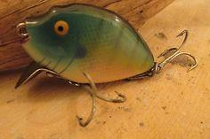Heddon Pumpkinseed Fishing Lure Vintage Gold Eyes
