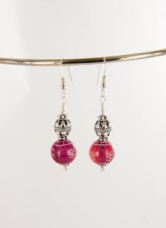 Nepal Bead Earring with Sterling Silver FREE SHIPPING by BaconsKeepers