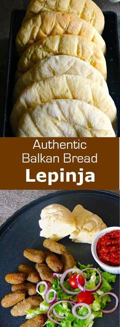 Lepinja bread, also called lepinje or somun in Bosnia and Herzegovina, is the da. - bready BreadsLepinja bread, also called lepinje or somun in Bosnia and Herzegovina, is the daily bread of the Balkans. It is very soft and airy. Bosnian Recipes, Croatian Recipes, Bosnian Bread Recipe, Bosnian Cevapi Recipe, Croatian Cuisine, Hungarian Recipes, Eastern European Recipes, Musaka, Macedonian Food