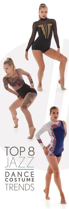 Dance Costumes Top 8 Jazz Costume Trends for Look's you'll love for your dance team costume! Lyrical Costumes, Jazz Dance Costumes, Ballet Costumes, Baile Jazz, Dance Uniforms, Ballroom Dance Dresses, Dance Leotards, Dance Outfits, Vestidos