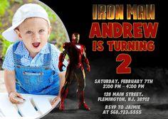 IronMan de hombre de hierro invitación invitación cumpleaños