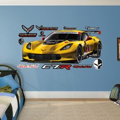 Motors Corvette C7r Peel And Stick Wall Decal Wall Decals