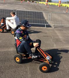 Daniel Ricciardo testing Red Bull's 2016 project car once they leave F-1!