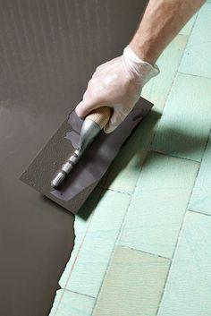 Faire un sol en béton cir - Home Decora La Maison Diy Cozinha, Cool Ideas, Polished Concrete, Concrete Floors, Home Staging, Kitchen Flooring, Decoration, Architecture Design, Sweet Home