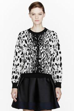 Lanvin Off-white Leopard Spot Crewneck for women | SSENSE