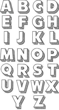 #interfacedesign Bullet Journal Writing, Bullet Journal Ideas Pages, Bullet Journal Inspiration, Bullet Journal Number Fonts, Hand Lettering Alphabet, Doodle Lettering, Creative Lettering, Cool Fonts Alphabet, Calligraphy Alphabet