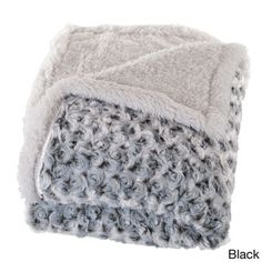 Added To Cart - Windsor Home Plush Flower Fleece Sherpa Throw Blanket - 17506350 - Overstock.com Shopping - Great Deals on Throws