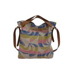Rainbow Slouch Bag - handles