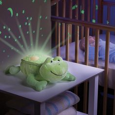 Baby Night Light Cot Mobile Projector Nursery Light Show Mood Lamp Kids Bedroom