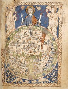 British Library Prints. No os perdáis el centro del mundo Jerusalem... Curioso mapa
