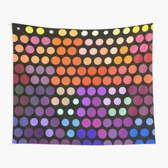Office Wall Decor, Home Wall Decor, Colorful Tapestry, Mandala Artwork, Pointillism, Deviant Art, Inspirational Wall Art, Hanging Pictures, Colorful Paintings