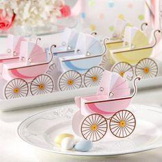 classic pram favour boxes for baby shower favours  www.theweddingduchess.com