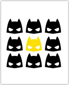 Modern Batman Boys Room Printable