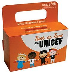 Wouldn't be Halloween without a UNICEF box in your hand!