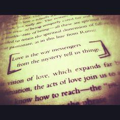 Rumi quote in Deepak Chopra's book, The Path to Love
