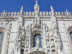 Make sure you don't miss Mosterio dos Jeronimos in Belem, it's a jewel of a building, showcasing hand-carved sculptures all over the exterior walls with enough detail to make your eyes hurt. #Lisbon #Portugal
