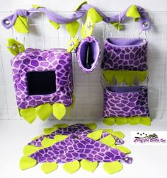 Sugar glider jungle cage set by PinoyPetCuddleCup on Etsy
