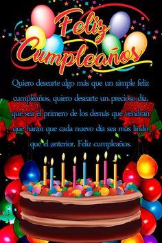 Happy Birthday Wishes Spanish, Happy Birthday Greetings Friends, Happy Birthday Notes, Happy Birthday Wishes Photos, Birthday Wishes Flowers, Happy Birthday Cake Pictures, Happy Birthday Celebration, Birthday Blessings, Happy Birthday Candles