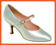"""1012 Ladies' Court Shoe with a 2.0"""" Contour Heel in White Satin - Pumps for women (*Amazon Partner-Link)"""