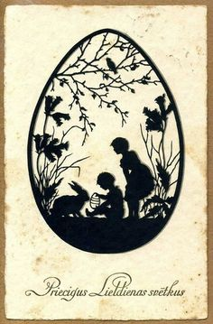 Latvia Easter Postcard c.1931