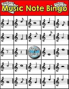 Music Note Bingo by Making Waves Music Productions Bingo, Violin Lessons, Music Lessons, Music Theory Worksheets, Middle School Music, Music Lesson Plans, Reading Music, Piano Teaching, Music Activities