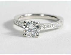 1.4 Carat Diamond Princess Cut Channel Set Diamond Engagement Ring | Recently Purchased | Blue Nile