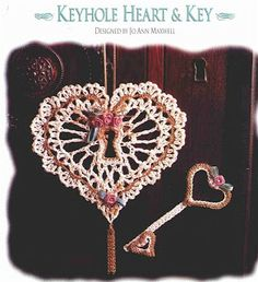 Lots of heart crochet pattern charts- good for valentines or christmas ornaments, very lacy & delicate