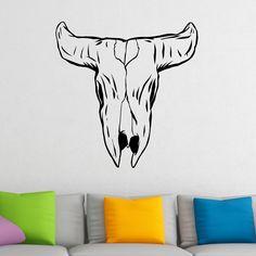 Awesome Buffalo Skull Wild West Wall Sticker