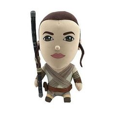 Celebrate one of the most iconic franchises in the movie industry. This Star Wars Premium talking Rey plush features phrases from The Force Awakens! Press Rey's stomach to hear her say phrases from the new Star Wars Movie: The Force Awakens.