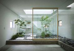 В японском стиле дзен дизайн ванной комнаты