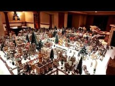 Christmas Village Display 2014/15 - Lemax houses, Department 56 models, trees, snowmen and figurines - YouTube