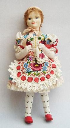 (I loved mine when I was a little girl! Lace Making, Dollhouse Dolls, Folk Costume, My Heritage, Outsider Art, Red Shoes, Dollhouses, Pin Cushions, Blythe Dolls