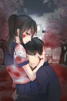 """""""Senpai is only mine -_- I will kill everybody for him ! :D""""I love Yandere Chan she's so damn cute ^-^   ♥ XD"""