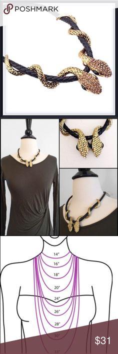 "NWT Snake Choker Necklace ➖NWT ➖17.8"" around ➖Snake Statement Choker necklace Entropy Jewelry Necklaces"