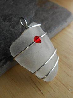 Sea Glass Pendant  Beach Glass Jewelry  POP by SeaFindDesigns, $12.00 …