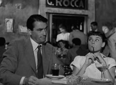 Gregory Peck & Audrey Hepburn in Roman Holiday - 1953 Movie Gifs, Movie Titles, Movie Quotes, Funny Quotes, Old Movies, Vintage Movies, Classic Hollywood, Old Hollywood, New Beverly Cinema