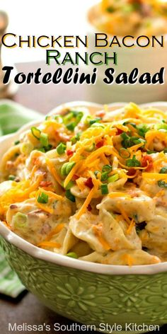 Side dish recipes 261842165824361871 - Serve this Cheddar Bacon Ranch Tortellini Salad as a side dish or an entree Source by slowroasted Side Salad Recipes, Pasta Salad Recipes, Side Dish Recipes, Dinner Recipes, Pasta Dishes, Food Dishes, Pasta Salat, Queso Cheddar, Cheddar Cheese