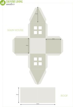 Christmas craft: light up paper house template