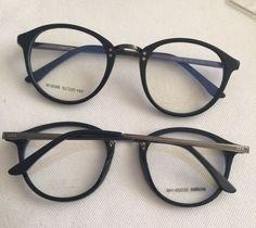 TR 90 Round Eye Glasses Vintage Prescription Glasses Frame women and men Cool Glasses, New Glasses, Girls With Glasses, Glasses Frames, Jewelry Accessories, Fashion Accessories, Fashion Eye Glasses, Four Eyes, Reading Glasses