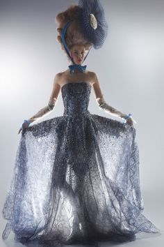 Couture's Flight of Fancy: Karl Lagerfeld photographs Lindsey Wixson.