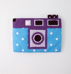 Blue and Purple Polka Dots iPhone Felt Case. by craftingwithlove, $21.00