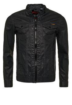 Superdry Jeansjacke dark grey resinated Bekleidung bei Zalando.de | Material Oberstoff: 99% Baumwolle, 1% Elasthan | Bekleidung jetzt versandkostenfrei bei Zalando.de bestellen!