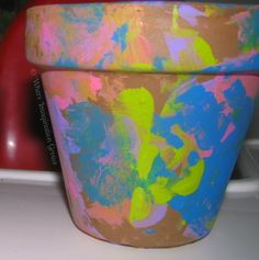 Painted Flower Pots! Fun DIY Gifts kids can make! Perfect for Mother's Day!